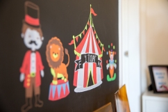 sneak peak, birthday, family, themed birthday, circus, bu